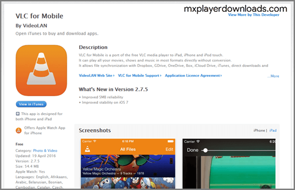 VLC for iPhone and iPad